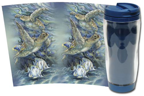 Turtles / Sea Tranquility - Travel Mug