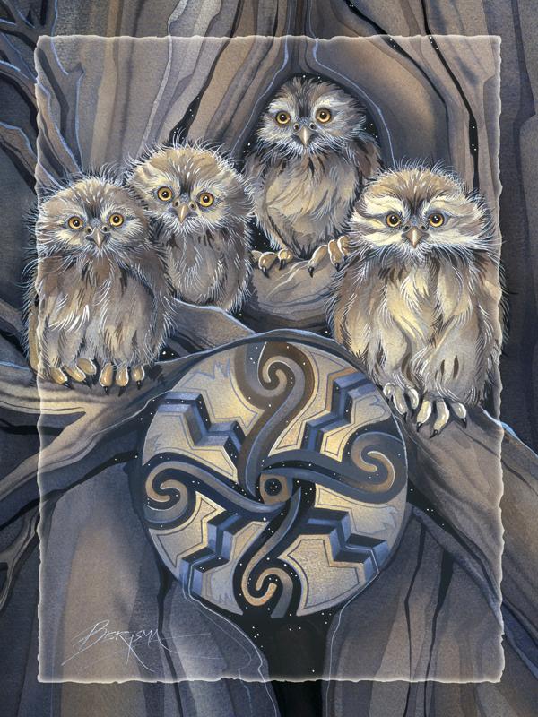 Little Owl Medicine - Easel Back Tile