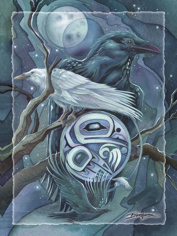 Raven Moon - Easel Back Tile
