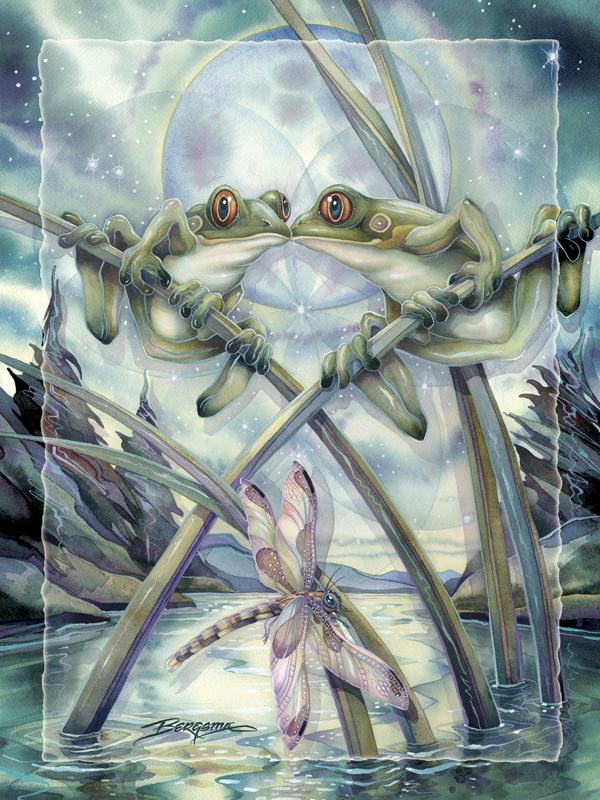 Frogs & Kisses - Easel Back Tile