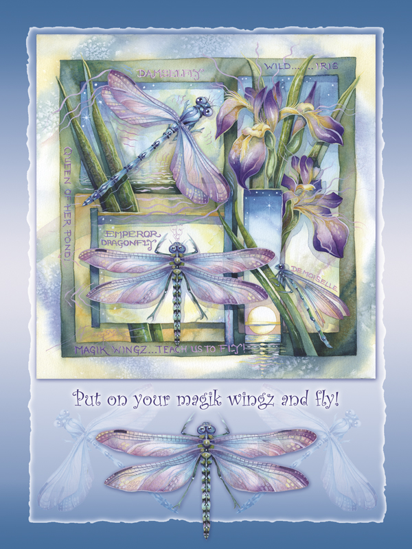 Put On Your Magik Wingz and Fly! - Easel Back Tile