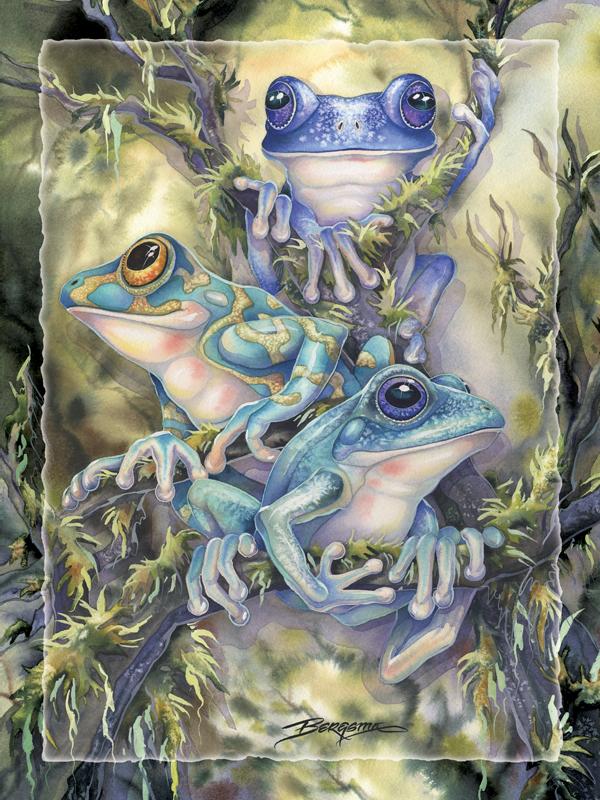 Frog Wild - Easel Back Tile