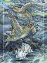 'Sea Tranquility' Easel Back Tile