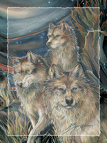 'The Pack...' Easel Back Tile