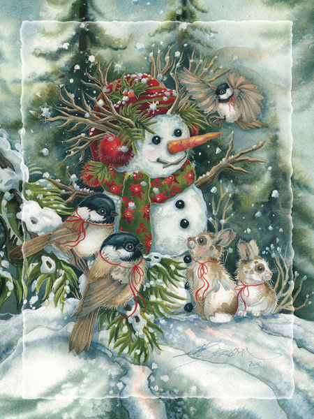 Frosted with Happiness - Easel Back Tile