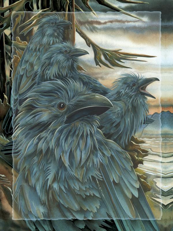 Ravens Forevermore - Easel Back Tile