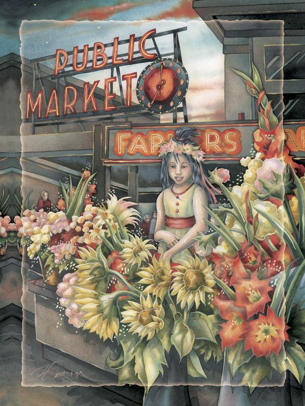 Public Market -  Easel Back Tile