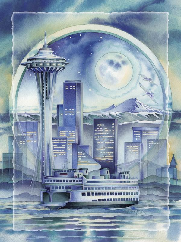 Seattle... Easel Back Tile