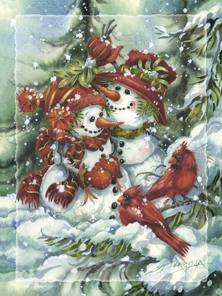 Under the Mistletoe - Easel Back Tile