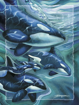 'Orca Clan' Easel Back Tile