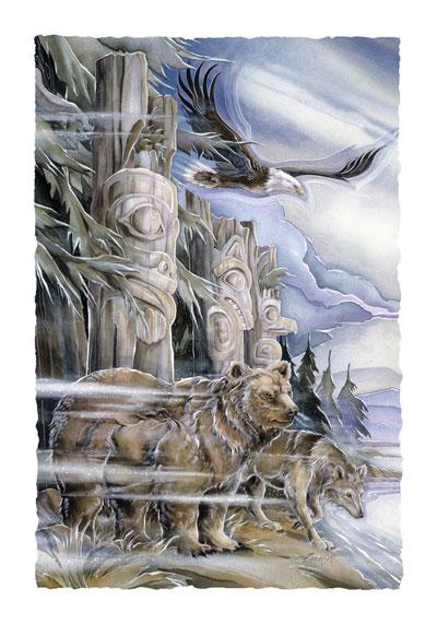 Multiple Animal Types / The Three Watchmen - Art Card