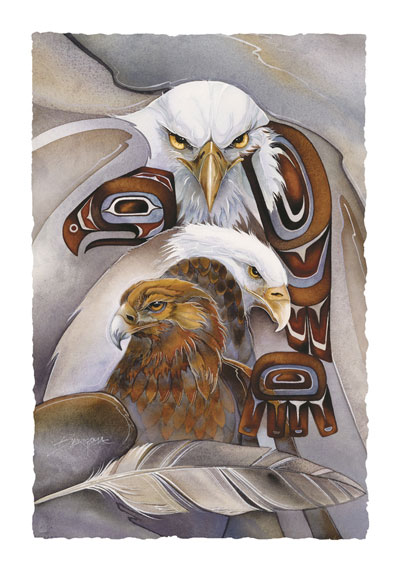 Eagles (Multiple) / Eagle Spirit - Art Card
