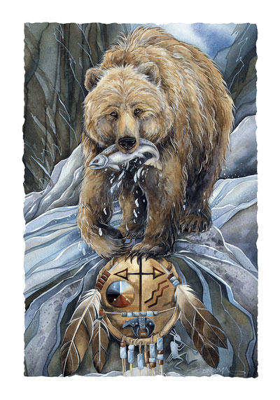 Bears (Grizzly) / Bear Clan - Art Card