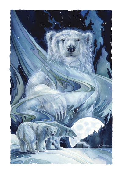 Bears (Polar) / Ursa Major - Art Card
