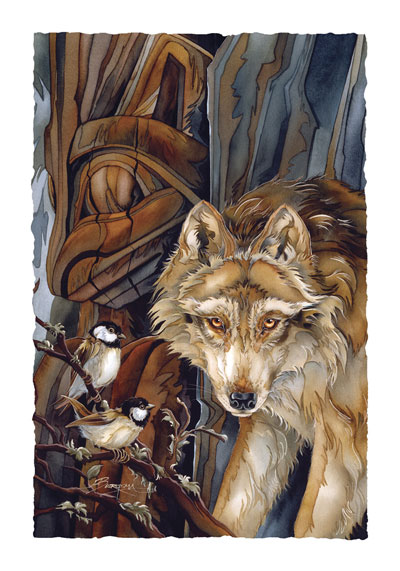 Wolves / Faces Of Your Little Brother - Art Card