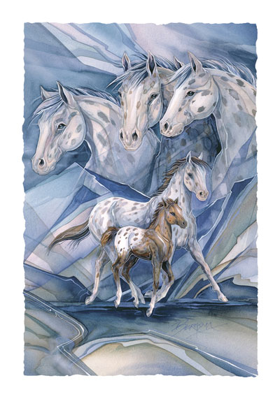 Horses / Spirit Of The Clouds - Art Card