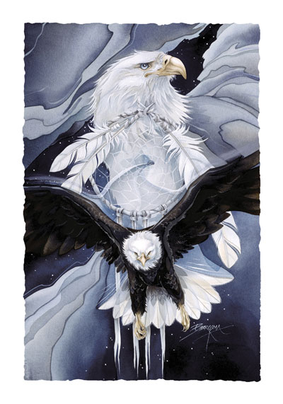 Eagles (Bald) / You Can Catch The Wind - Art Card