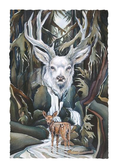 Deer / Wildheart - Art Card