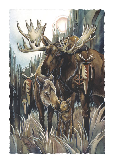 Moose / Unexpected Encounter - Art Card