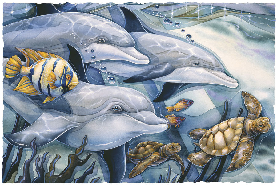 Dolphins / Honor Diversity - Art Card