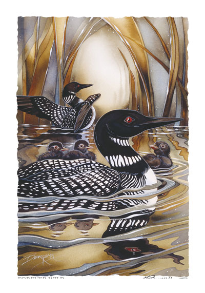 Loons / Forever Wild - Art Card