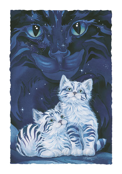 Cats / Wish Upon A Star - Art Card