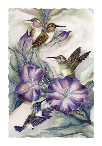 Hummingbirds / Hummertime - Art Card