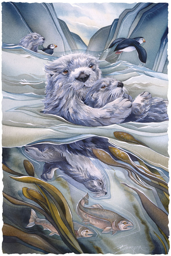 Bergsma Gallery Press Paintings Sea Life Otters