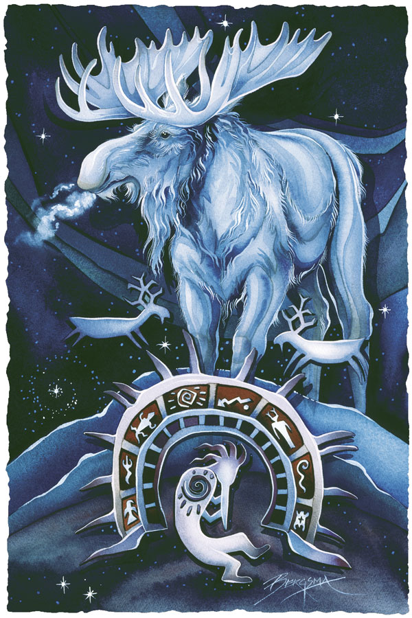 Once In A Blue Moose - Prints
