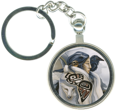 Ravens / Raven Lady - Key Chain