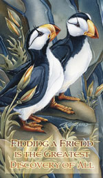 Puffins / Two Beaks, Or Not Two Beaks - Mailable Mini