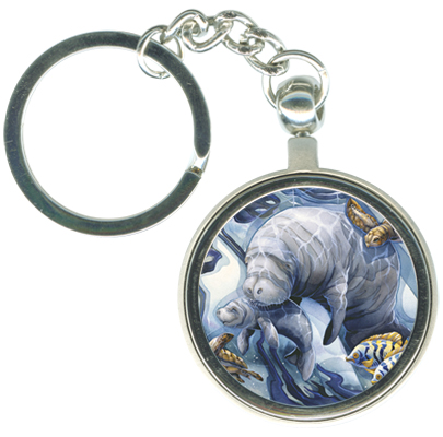 Manatees / Home Sea Home - Key Chain