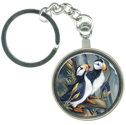 Puffins / Northern Humor - Key Chain