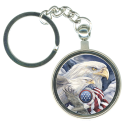 Eagles (Patriotic) / Together We Stand - Key Chain
