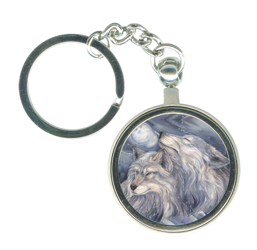 Wolves / Love Is The Beginning Of All Things Beautiful - Key Chain