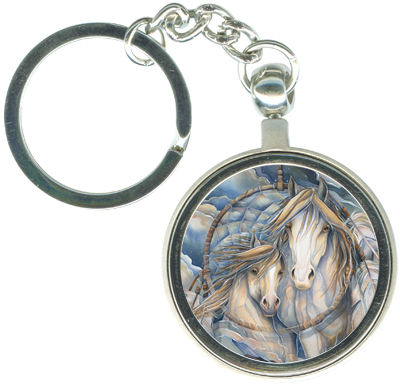 Horses / The Dream Creates The Journey - Key Chain