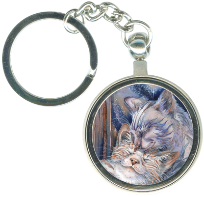 Cats / Lean On Me - Key Chain