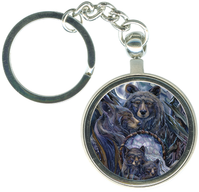 Bears (Black) / Journey To The Dreamtime - Key Chain