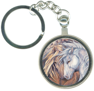 Horses / Fire In The Soul - Key Chain