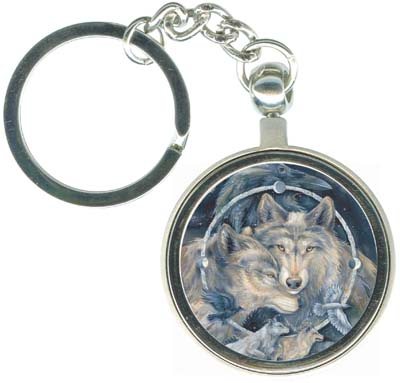 Wolves / In Spirit... I Am Free - Key Chain