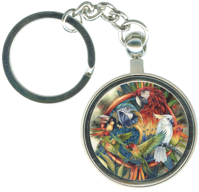 Multiple Bird Types / Celebrate Life's Many Colors - Key Chain