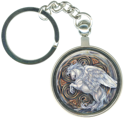 Pegasus / May Your Dreams Take Flight - Key Chain