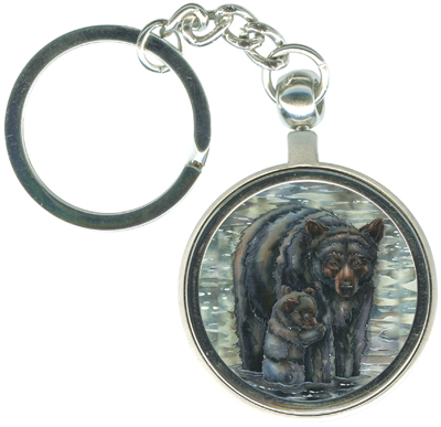 Bears (Black) / This Bears My Love For You - Key Chain