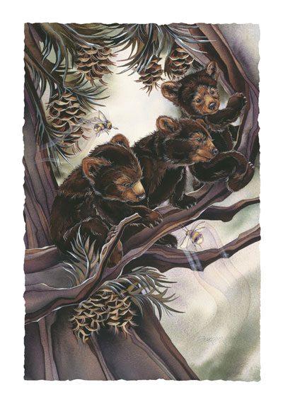 Bears (Black) / Life Is Sweet... - Art Card