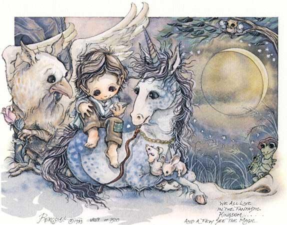 We All Live In The Fantastic Kingdom... - DreamKeeper Print