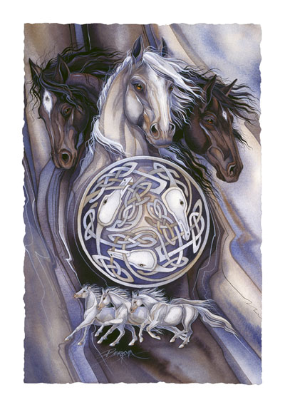 Horses / Legend - Art Card
