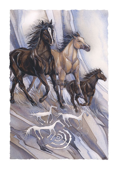 Horses / In The Beginning... A Dream - Art Card