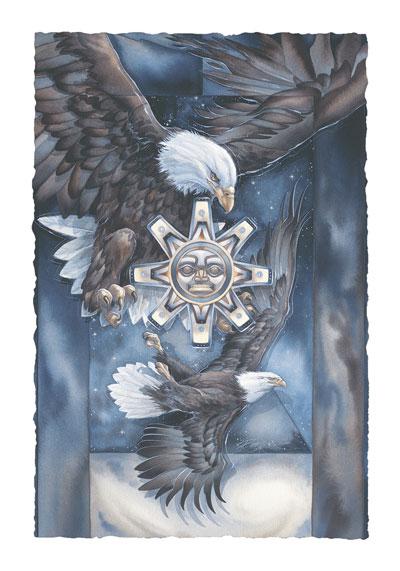Eagles (Bald) / A Dance For Life - Art Card