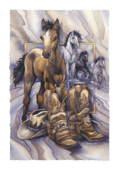 Horses / Old Soles, Forever Young - Art Card