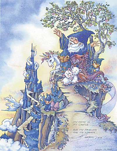 My Home Is My Castle... - DreamKeeper Print